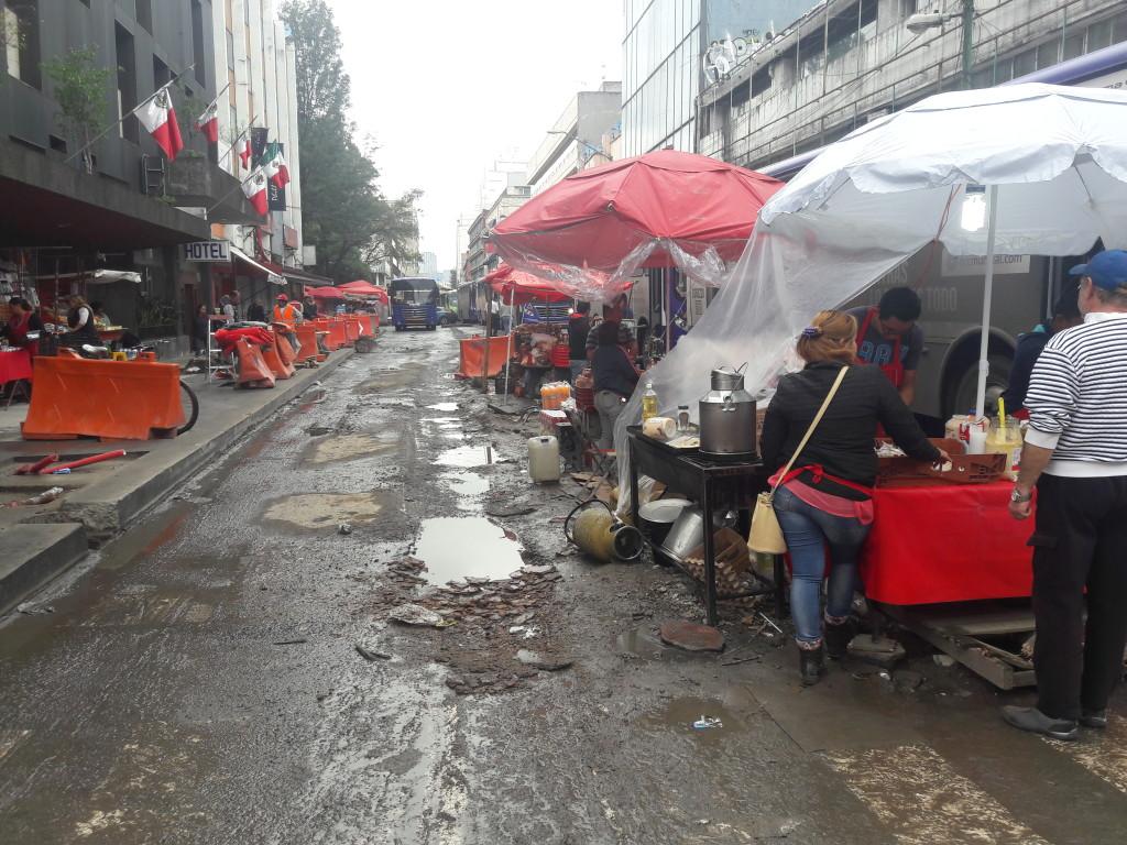 Essensstände in Mexikostadt