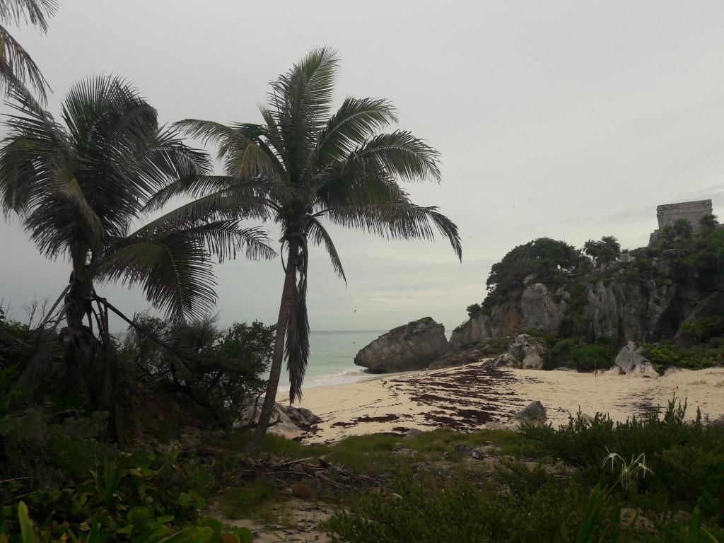 Strand an der Mayastätte von Tulum
