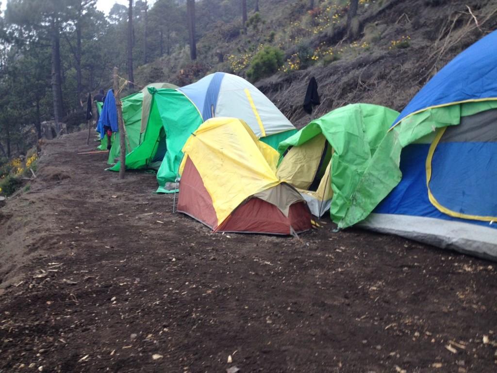 Base Camp des Acatenango auf 3700 m Höhe