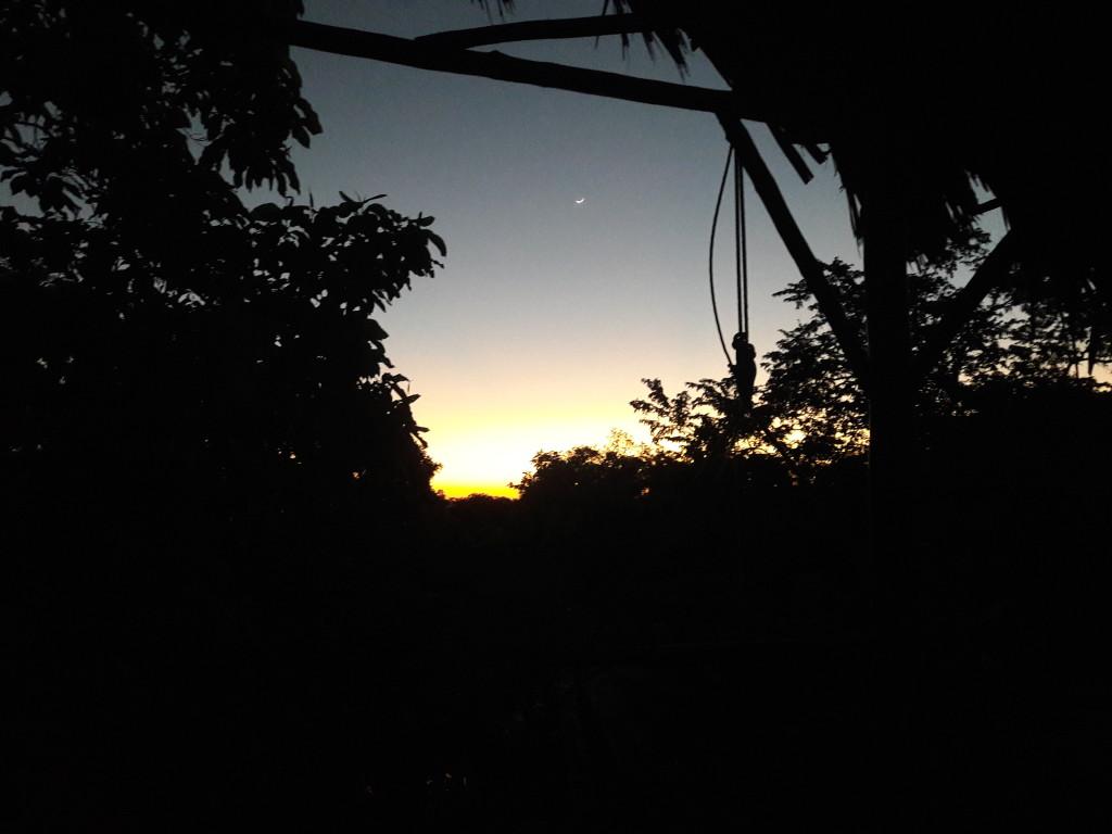 Sonnenuntergang vom Yoga-Deck