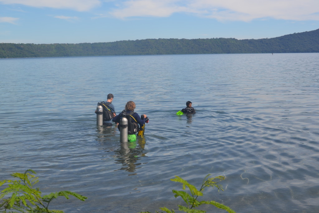Tauchen an der Laguna de Apoyo