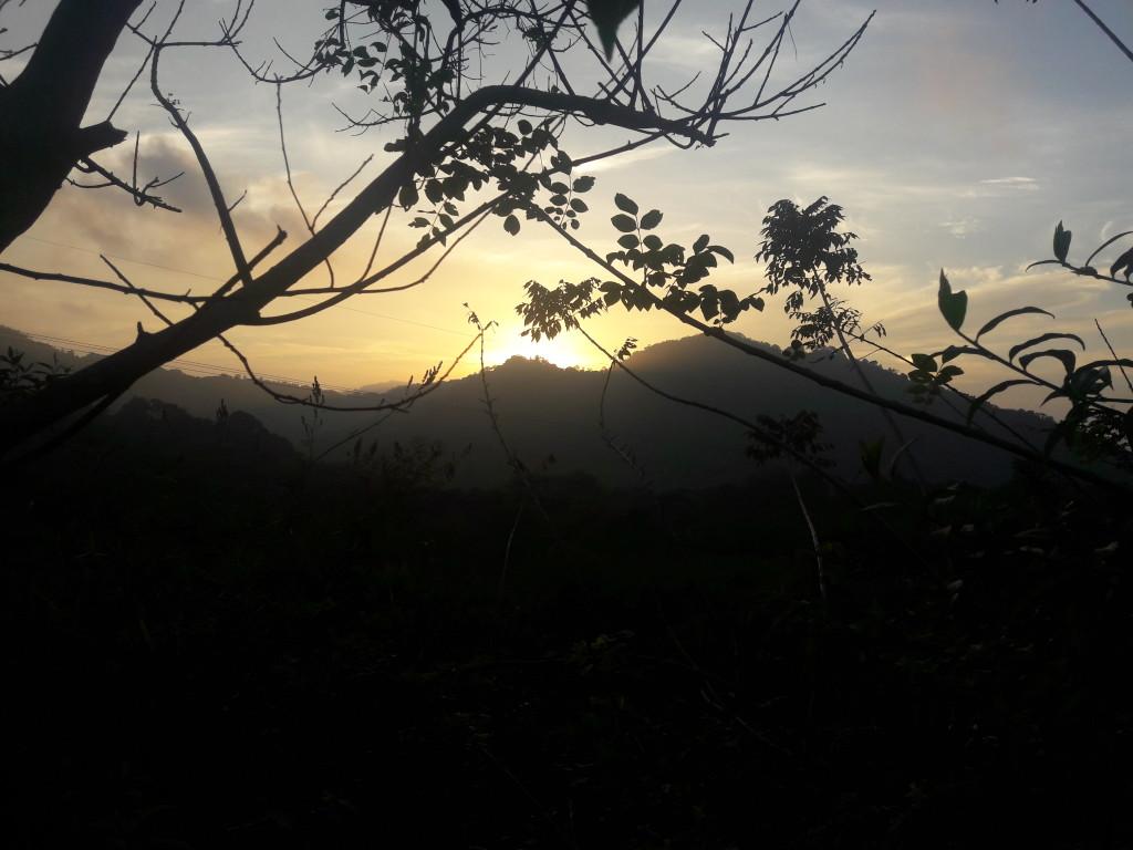 Sonnenuntergang in Minca