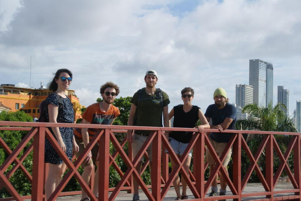 Die Clique (von links: Tina, Chrissi, Ich, Phil, Kai)