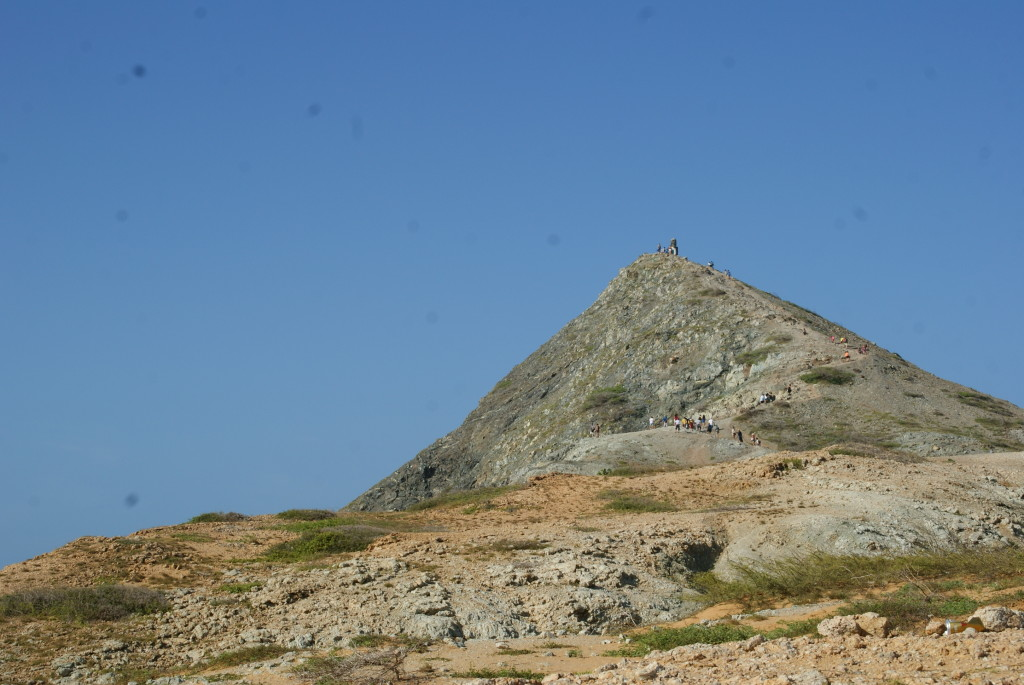 Aufstieg auf den heiligen Berg am playa del pilon de azucar