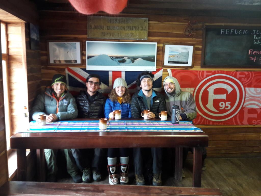 Unsere Gruppe von links: Estalin, Christian, Natalia, Hans und ich