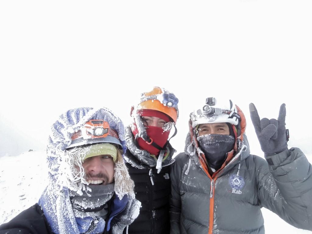 Gipfelfoto mit Hans und Estalin